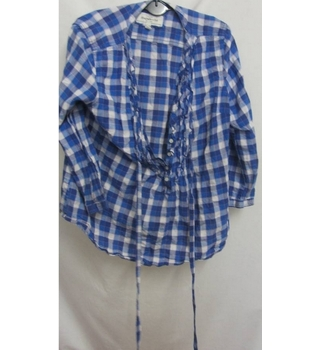 Abercombie & Fitch Evening Wear Checked Size: S